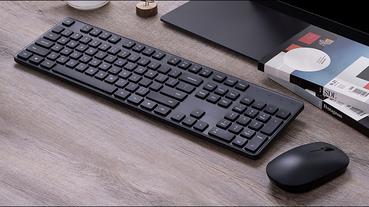 小米無線鍵鼠套裝 推出:104 鍵全尺寸鍵盤、 2.4GHz 無線傳輸,售價僅約 425 元
