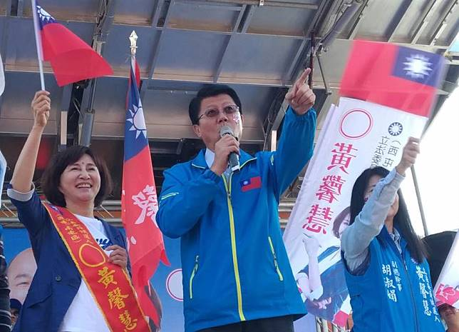 國民黨台南市議員謝龍介。(陳世宗攝)
