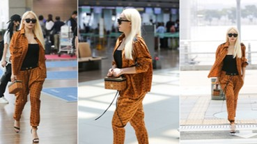 機場時尚大直擊! 韓國音樂天后 CL 勁裝搭配 MCM 搖滾巨星手袋