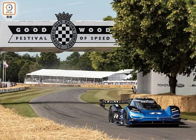 純電動Volkswagen ID.R早前以39.90秒打破了20年前McLaren MP4/13所造出的 41.60 秒最速紀錄,成為Goodwood Festival of Speed最新的最速紀錄保持者。(互聯網)