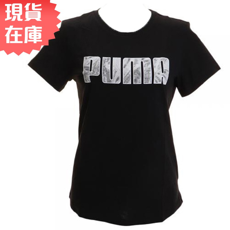 【現貨】PUMA KA 女裝 短袖 休閒 純棉 透氣 黑 亞規 【運動世界】 84404651