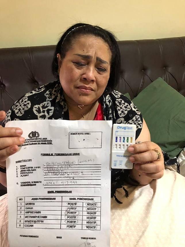 Barang bukti sabu yang disita polisi dalam penangkapan pelawak Nunung seberat 0.36 gram. Foto:Polda Metro Jaya