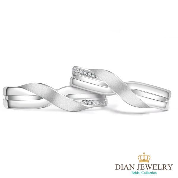 【DIAN 黛恩珠寶】十指緊扣 鑽石結婚對戒(情人鑽石對戒 系列)