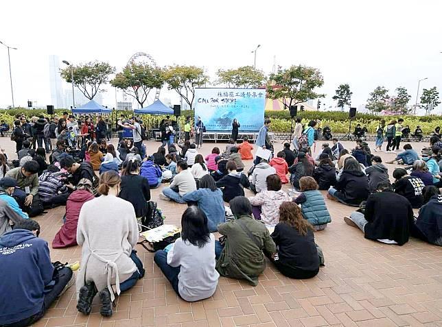 社福界中環舉行造勢集會。