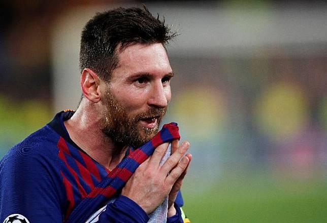 Pemain Barcelona, Lionel Messi. REUTERS/Albert Gea