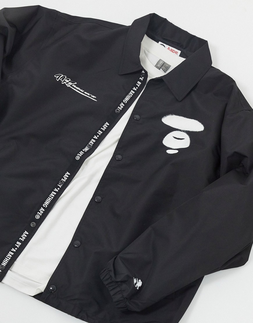 Jacket by AAPE By A Bathing Ape That new-jacket feeling Spread collar Taped placket with press-stud