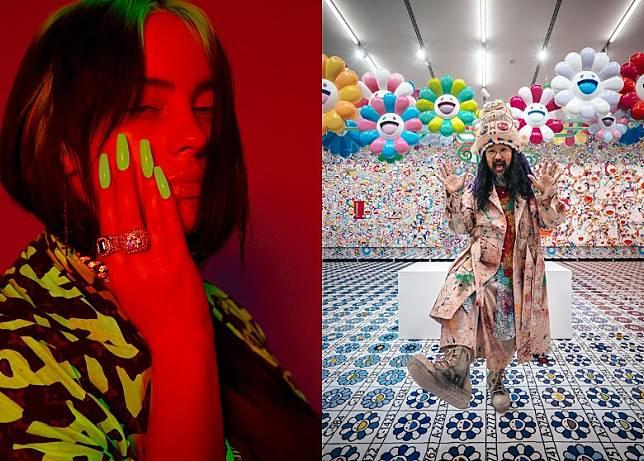 Billie Eilish及村上隆可能於好多人眼中被歸類為風格怪異,但二人於音樂、藝術及時裝領域的影響力絕對不容忽視。(互聯網)