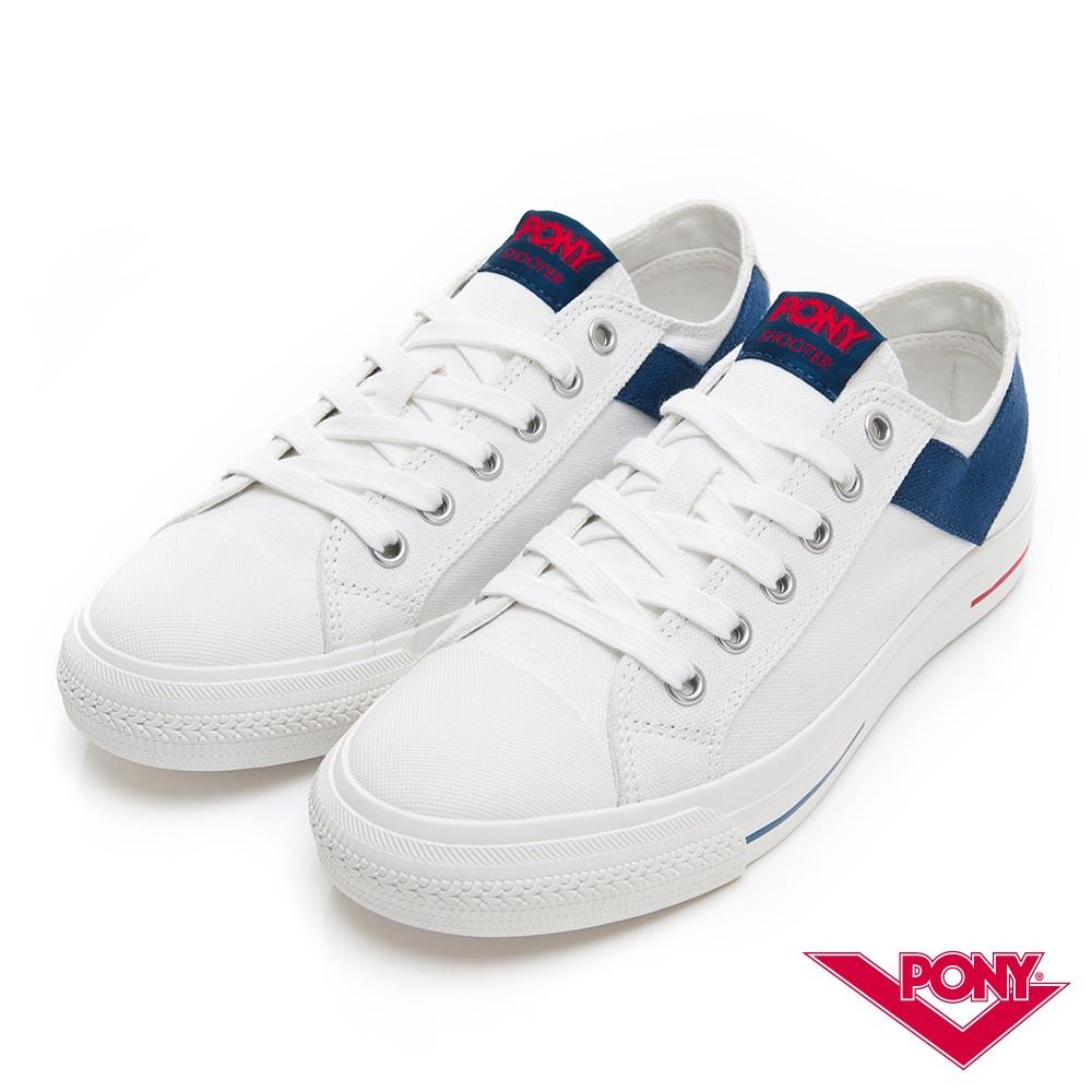 PONY Shooter經典不敗基本款帆布鞋-男女款-深藍色