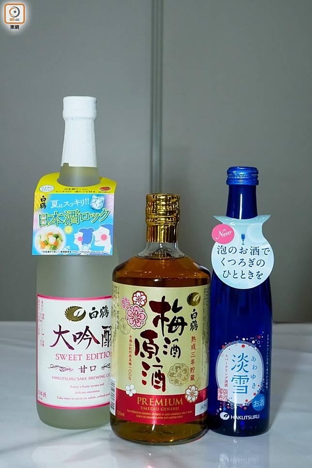全新口味的日本大吟釀、梅酒原酒及有汽清酒,變成超值夏日新品套裝。(攤位編號:1B-B02)(莫文俊攝)