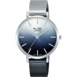 ALBA 雅柏 漸層藍 簡約米蘭女錶-34mm(AH8903X1/VJ21-X180D)