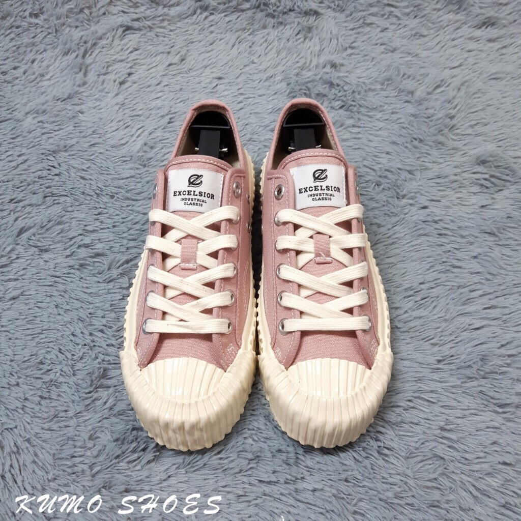 KUMO SHOES EXCELSIOR 餅乾鞋 全白 粉紫色 白厚底帆布鞋 女鞋 韓國限定