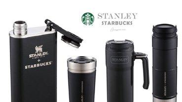 Stanley+STARBUCKS最後一波聯名!經典黑、質感灰,還有台灣限定紅色酒罐造型,11/16開始販售!
