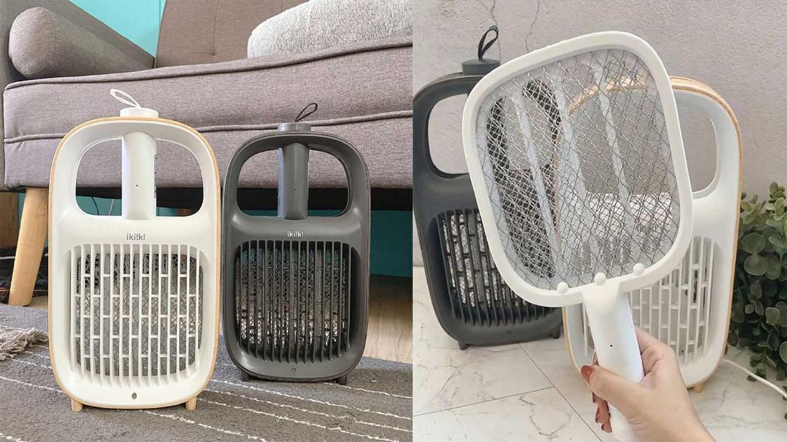 趕走蚊子同時還增加空間質感,小清新風#二合一捕蚊器電蚊拍