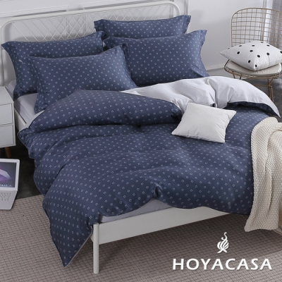 HOYACASA米蘭格調 特大四件式抗菌天絲兩用被床包組