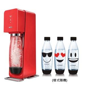 加碼送專用水瓶1LX3 全新自動扣瓶裝置 三階段氣泡含量指示 輕按3下,沁涼氣泡水即完成 不用插電即可使用 添加糖漿或果汁成為各式汽水/調酒