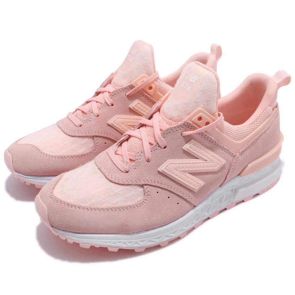 復古休閒鞋品牌:NEW BALANCE型號:WS574SNCB品名:WS574SNCB配色:粉色,白色