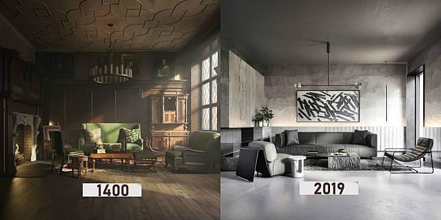 Potret Perubahan Desain Interior Sejak 600 Tahun Lalu Hingga Saat Ini