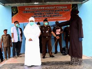 Chat Mesum, Istri Mantan DPR di Aceh Kena Cambuk