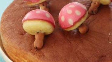 用章魚燒機完成!童話風蘑菇小蛋糕