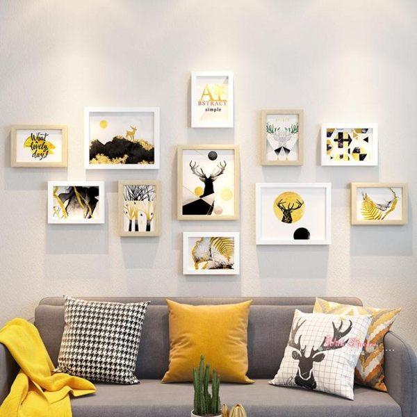 照片牆免打孔牆壁裝飾相框掛牆組合創意相冊牆辦公室洗照片相片牆
