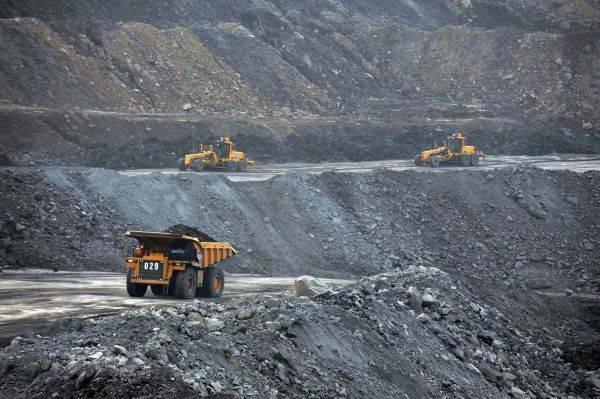 Ilustrasi penambangan batubara.