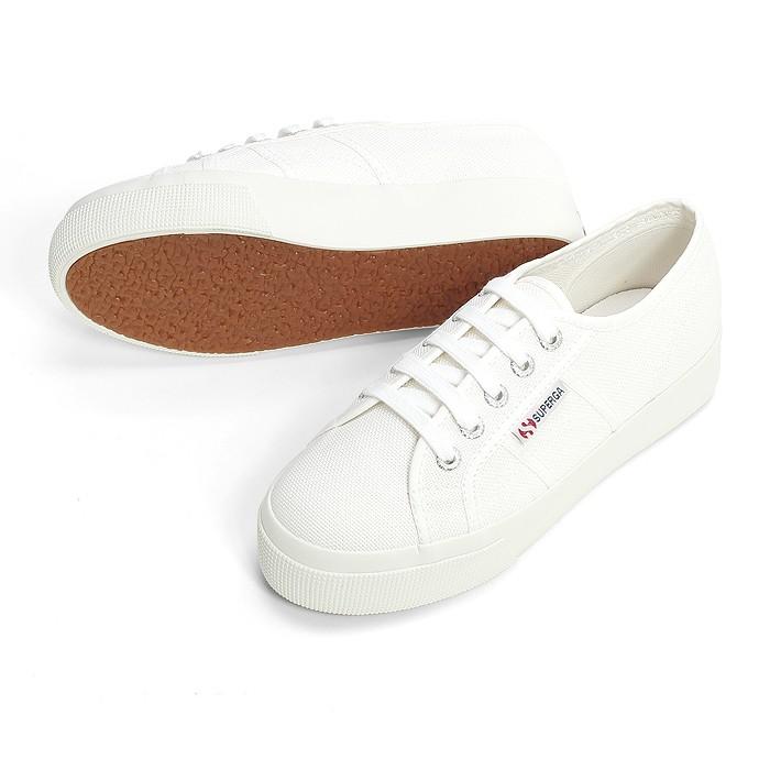 SUPERGA Classic 2750_Flatform 厚底帆布鞋款_白_SP3NC3N0W1