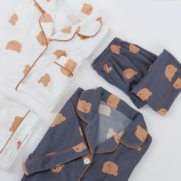 滿版小熊短袖睡衣
