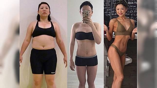 日本一名健美冠軍分享自己從94公斤胖妹瘦身下來的心路歷程。(圖/翻攝自IG)