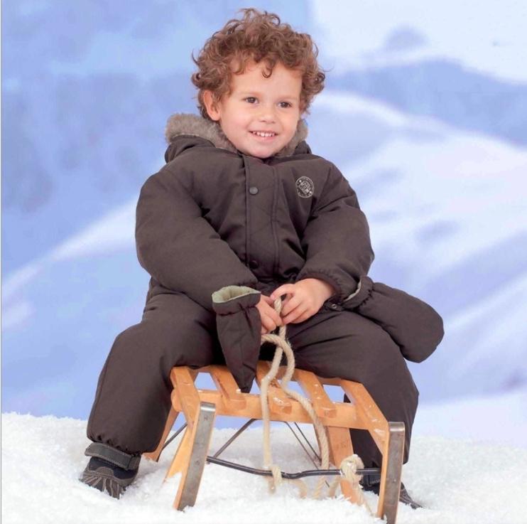 連帽棉絨厚款連身衣,雪衣 防潑水 防風 滑雪 橘魔法 baby magic 兒童保暖滑雪裝 滑雪 滑雪衣【p0061149253959】