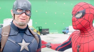 《美國隊長 3》幕後花絮曝光 蜘蛛人原來是這樣演出的!