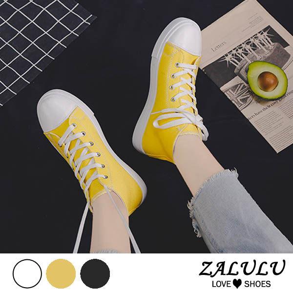 8HE241 預購 潮流街頭插畫滑板短靴-白/黃/黑-35-40