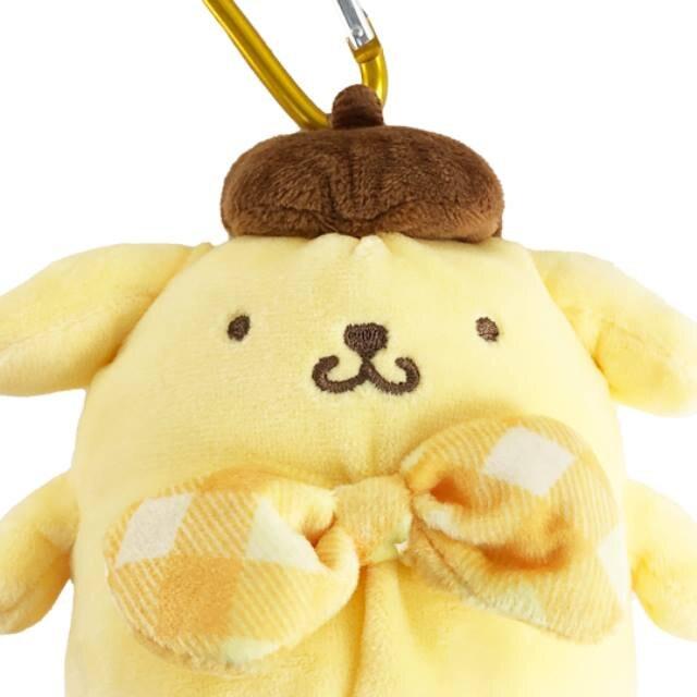 小禮堂 布丁狗 折疊環保購物袋 附玩偶收納包 (黃色款)