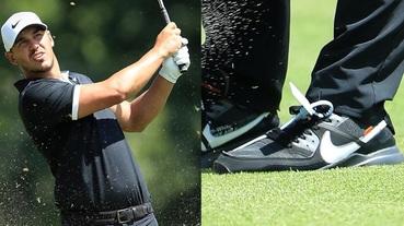 選手實著 / 現任世界球王 Brooks Koepka 上腳 Off-White x Nike Air Max 90 Golf 出戰 PGA TOUR