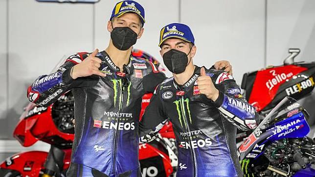 Dua pembalap Monster Energy Yamaha MotoGP, Fabio Quartararo dan Maverick Vinales. (Monster Energy Yamaha MotoGP)