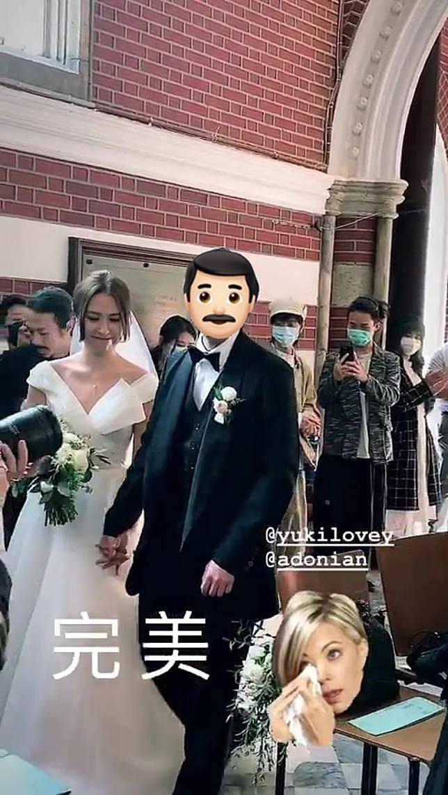 疫境中出嫁,賓客都戴上口罩。