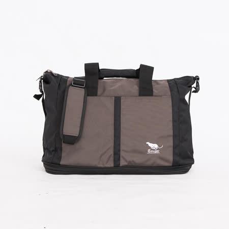 【Cougar】大型 可加大 可掛行李箱 旅行袋/手提袋/側背袋(7050 灰色)