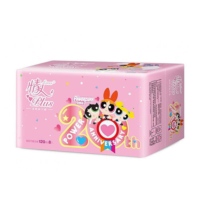【情人】飛天小女警授權版抽取式衛生紙 120抽*8包*8串