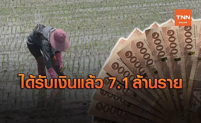 ตรวจสอบเงินเยียวยาเกษตรกร! ธกส.โอนแล้ว 7.1 ล้านราย
