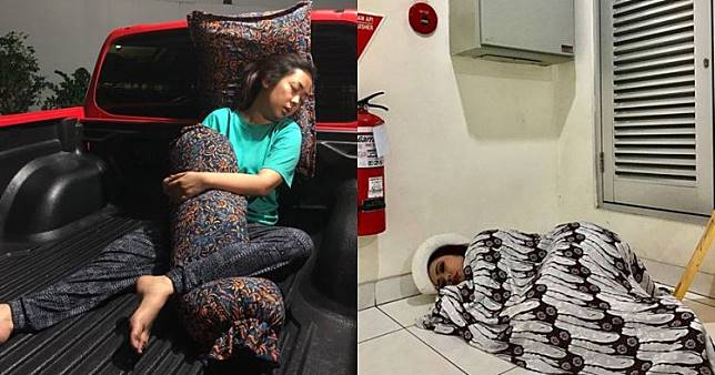 7 Potret Soimah tidur di sembarang tempat ini bikin ngakak