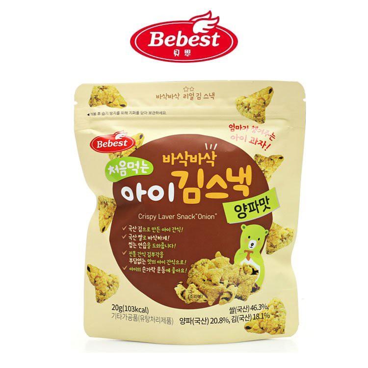 QQmei推薦-韓國 Bebest 貝思 海苔脆點心-洋蔥(12個月適用)