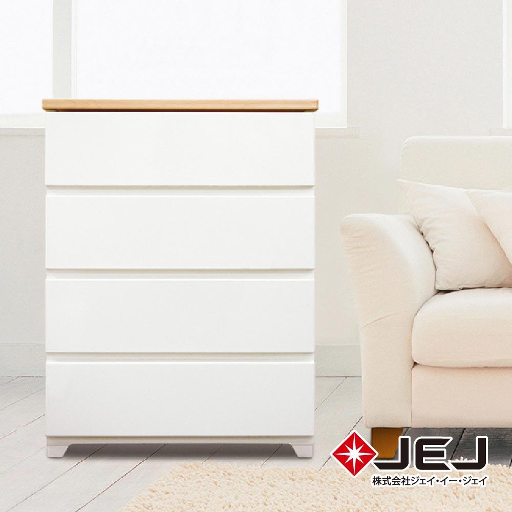 日本JEJ STYLE系列 木紋頂緩衝式滑軌抽屜櫃/760寬4抽 完美主義【JEJ037】