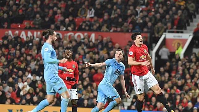 Pertandingan antara Manchester United (MU) vs Burnley di Old Trafford