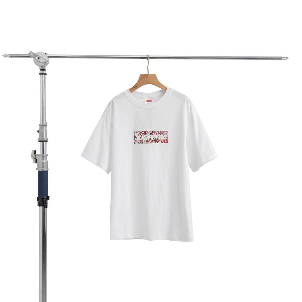 SUPREME 2020SS 村上隆聯名 慈善 純棉短袖T恤 經典太陽花滿印box 男女同款 情侶T恤