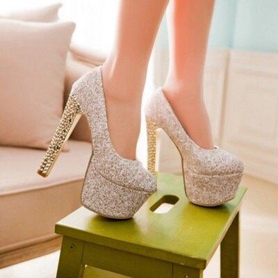 圓頭高跟鞋 水晶婚鞋-性感熱賣夜店玩咖女鞋子3色73e14【獨家進口】【米蘭精品】