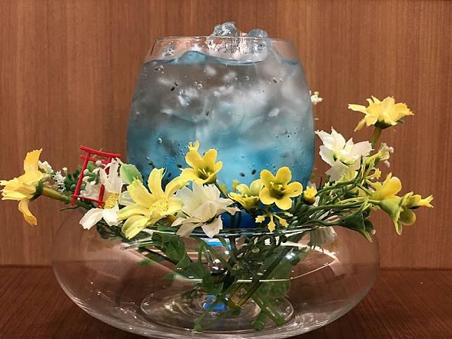 天空入口神社雞尾酒,樣子很澎湃。900日圓(約HK$66)(互聯網)