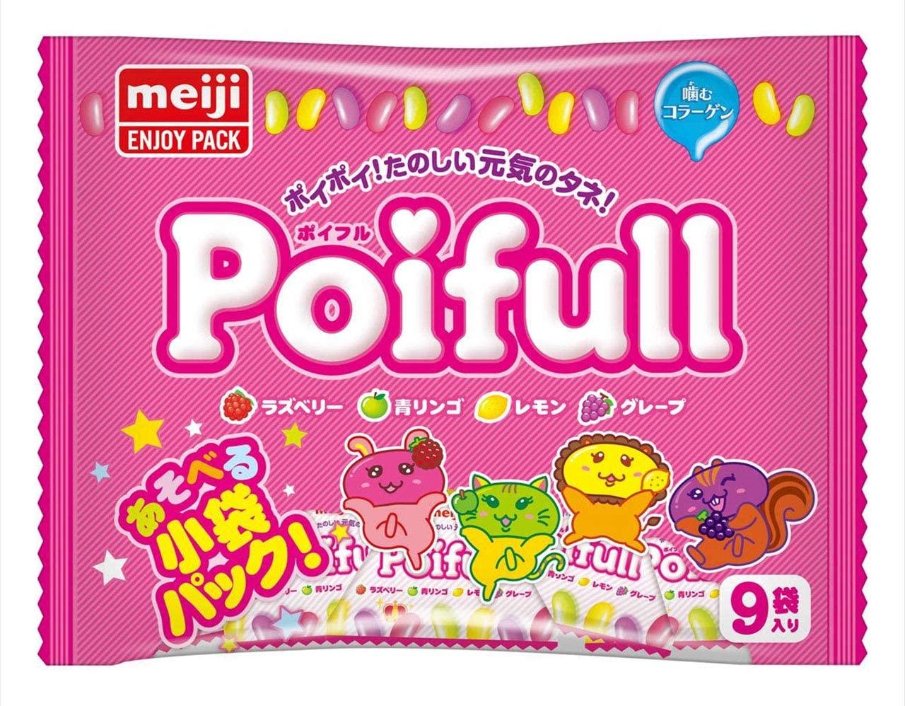 Meiji 明治 Polfull 水果風味雷根軟糖 126g(裡面有9小袋分裝喔!)