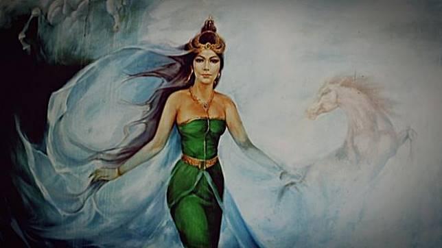 Lukisan Nyi Roro Kidul.