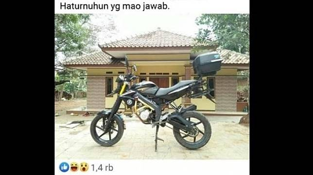 Yamaha Vixion Modifikasi. (Facebook)