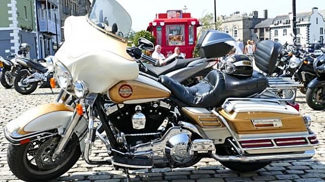 Harley-Davidson Electra Glide di Plymouth, Inggris. Sebagai ilustrasi [Shutterstock].