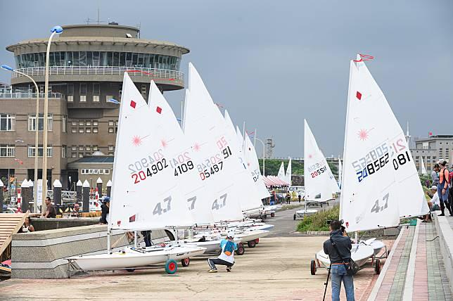 ▲桃園全運會,帆船賽因風浪過大延後開賽。(圖/主辦單位提供)